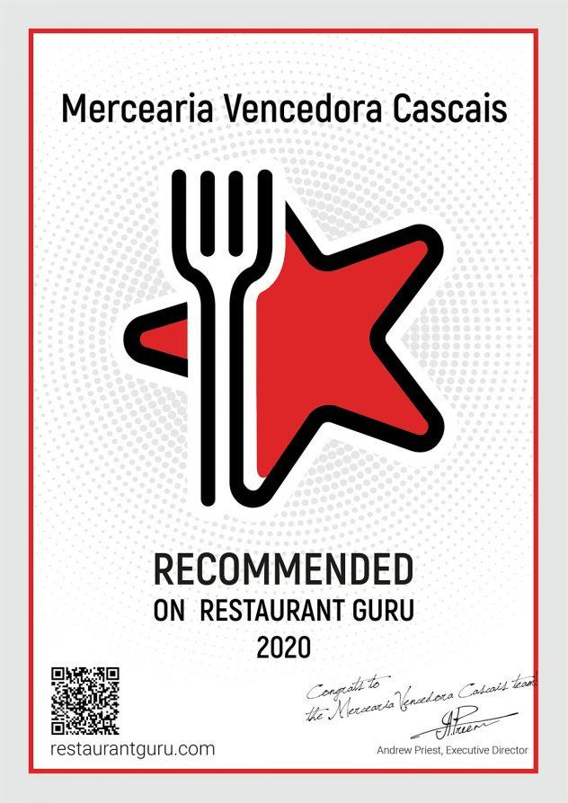 Restaurante mercearia vencedora Guru Certificate